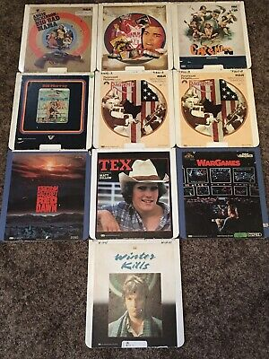 Lot Of 10 Discs 9 Movies RCA CED SelectaVision VideoDisc Lot #1