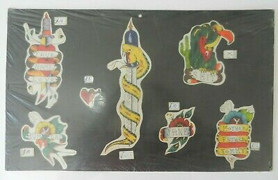 vintage hand drawn coloured tattoo flash BILLY BROWN scotland NOT MACHINE