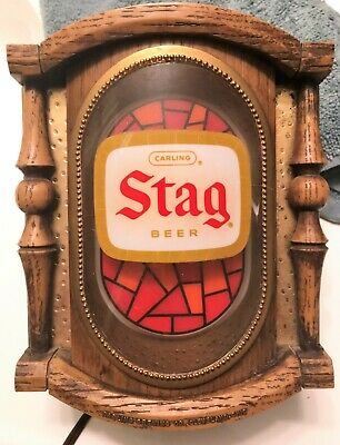 Small Vintage STAG BEER Advertising Light, Works! PayPal only