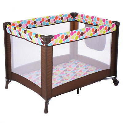 Portable Bed Playpen Foldable Pack N Play Playard Baby Bassinet Travel Toddler