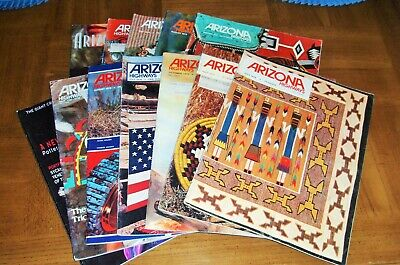 Arizona Highways 12 Indian Issues - Indian Arts & Crafts  Collectible-Abt $3 Ea