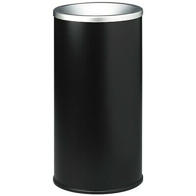 Trash Can Cigarette Butt Smoking Receptacle Disposal Ashtray Garbage Bin Black