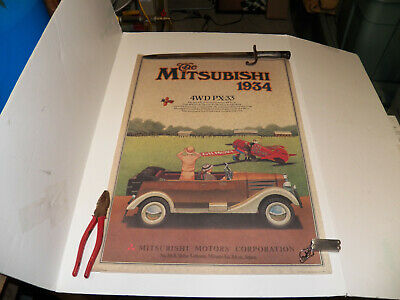Vintage Mitsubishi  Car Large Prints . 1934 And Two 1917 Posters .
