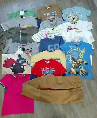 Boys clothes bundle 7-8 years 19 items! Tshirts jumpers trousers used + new UK
