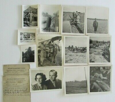 Lot 12 WW2 US Army Soldier Airplane Photos Crawfordsville Indiana