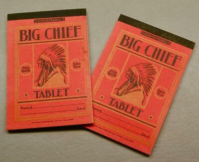 Lot Of 2 Rare Novelty-Sized Big Chief Tablets • Promotional • Salesman Sample