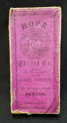 Antique Hope Thread Co Sewing Spool Cotton Box Only *Rare*