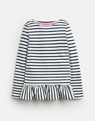Joules Girls Polly   Peplum Long Sleeve Top  -  Size 3yr