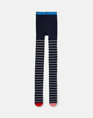 Joules Girls Partykins Sparkle Tights - NAVY STRIPE Size 5yr-6yr