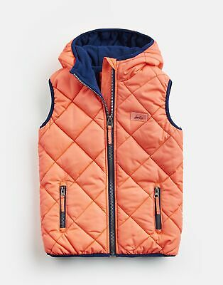 Joules Girls Lovell Quilted Gilet Jacket  - PINK Size 3yr