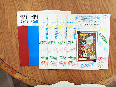POSTCARD COLLECTOR MAGAZINE - 27 Issues 1976 - 1982, Great Condition
