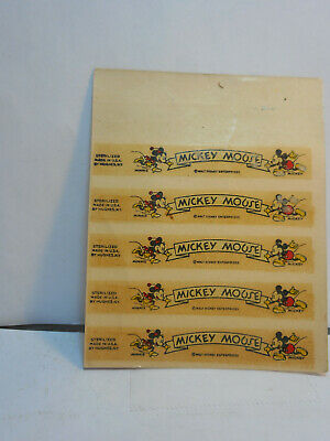 5 Older, Mickey Mouse Decals With Minnie And Mickey. Walt Disney Enterprises