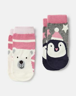 Joules Baby Girls Treat Feet 2 Pk   Character Socks -  Size 6m-12m