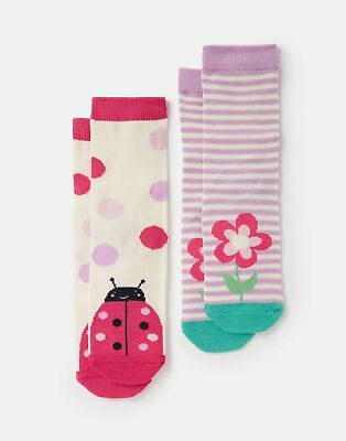 Joules Babys 207271 Character Socks - LADYBIRD Size 0m-6m