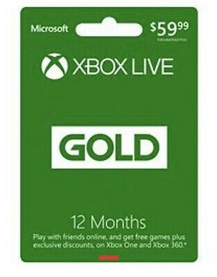 Microsoft Xbox LIVE 12 Month Gold Membership for XBOX ONE INSTANT DELIVERY