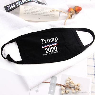 Trump 2020 Keep America Great Face Mask Cotton Black Adult Washable USA Stock