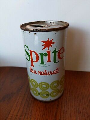 Vintage Sprite It's A Natural 12oz Straight Steel Can 60s