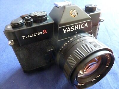 Yashica TL Electro X with 1.4/50mm lens in beautiful black finish.
