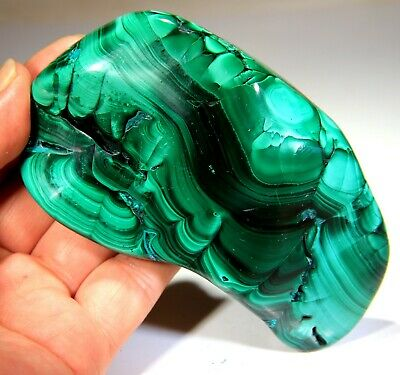 "4.75"" Top Quality Polished Bull's Eye Malachite, Congo! 5R01"