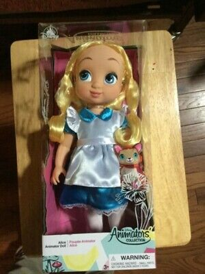 Disney Animators' Collection Alice in Wonderland Doll 16 Inches Doll New