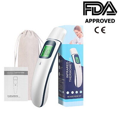 Medical Grade NON-CONTACT Infrared Forehead Thermometer Baby/Adult (FDA approved