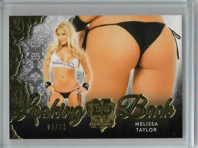 2019 Benchwarmer 25 Years Melissa Taylor Looking Back Butt Card Gold - 06/10