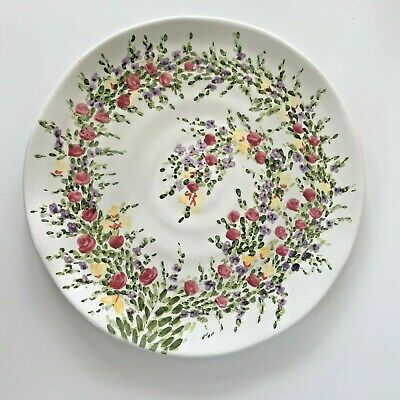 """Tabletops Unlimited Spring Garden Hand Painted Collection 11 1/4"""" Dinner Plates"""