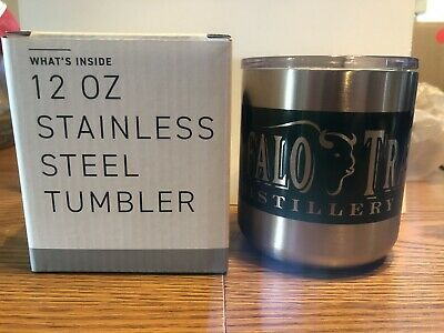 BUFFALO TRACE BOURBON 12oz STAINLESS STEEL TUMBLER DRINKING CUP NORTHWOODS NEW