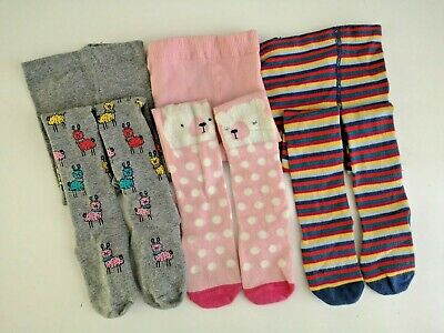 NEXT___3 pairs of tights girl age 2-3 yrs VGC inc llama tights