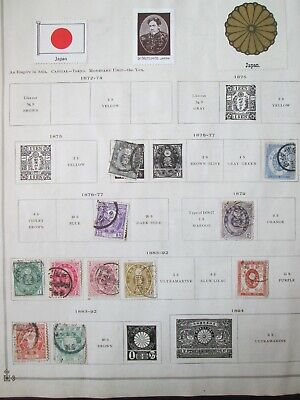 Japanese Stamp COLLECTION of 131 ANTIQUE old Japan  Lot of used and UNUSED  + +