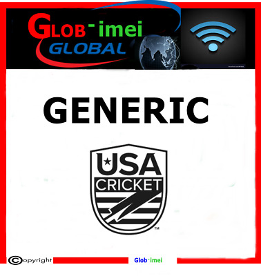Unlocking code Cricket USA samsung . LG . NOKIA . BLACKBERRY ......
