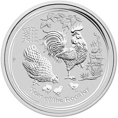 2017 P Australia Silver Lunar Year of the Rooster (1 oz) $1 - BU