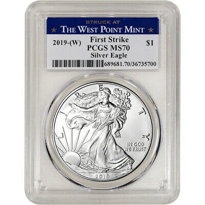 2019-(W) American Silver Eagle - PCGS MS70 - First Strike West Point Label