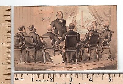 Political PRESIDENT GROVER CLEVELAND Address Cabinet US Mutual Ins. Trade Card