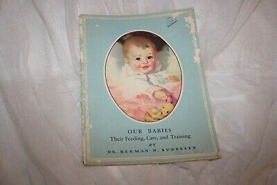 Antique Vintage 1942 Feeding Care Training Baby Book Guide