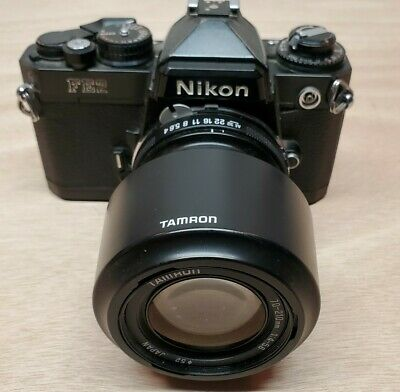 NIKON FE2 BLACK SLR Film Camera Black WITH TAMRON 70-210 LENS