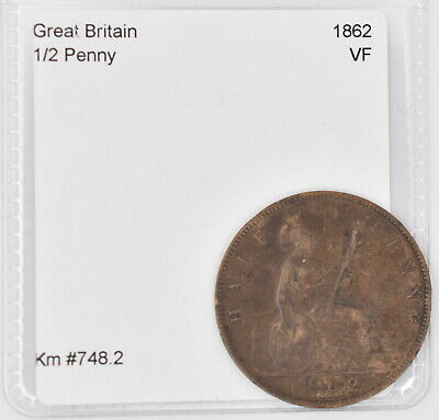 1862 Great Britain 1/2 Penny (Km #748.2)