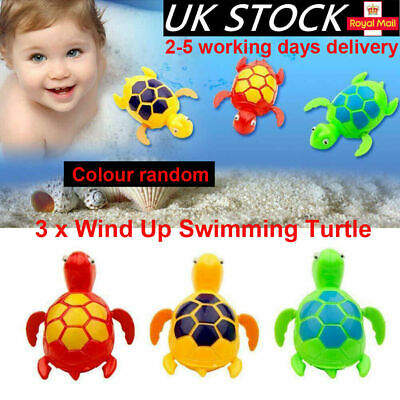 3PC Kids Baby Bath Pool Swimming Turtle Animal Toy Winding Wind-up For Children