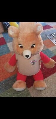 Teddy Ruxpin Bear Playskool 1985 With Tape
