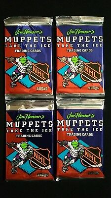1994 Cardz Muppets Take The Ice Trading Card 4 Pack Lot