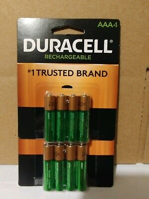 8 count Duracell Rechargeable AAA Batteries