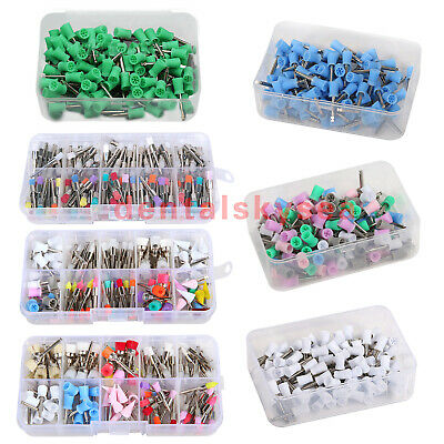 100 * Dental Rubber Prophy Teeth Polish Polishing Cups Brushes Latch Type Colors