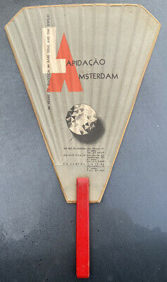 Vintage Advertising Diamond Shaped Fan From Lapidacao Amsterdam