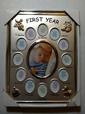 Hallmark Designs Baby's First Year Collage Silver Picture Frame MSRP $40.00