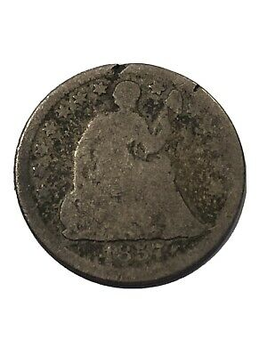1857 Silver Seated Liberty Half Dime