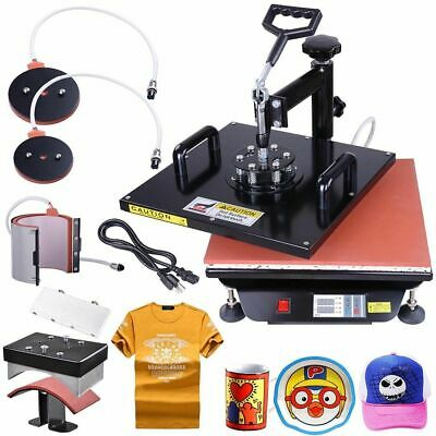 Mug w/ Gloves 15x15 5in1 Digital Transfer Sublimation Heat Press Machine T-Shirt