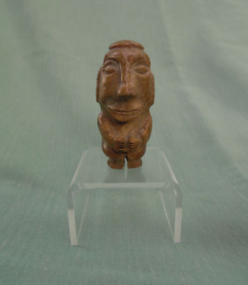 Pre Columbian Carved Stone Dwarf Figure