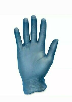 Disposable Blue Vinyl Single Use Gloves - size M (Pack of 50 Pairs)