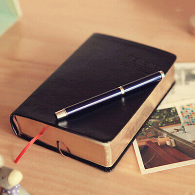 Retro Leather Notebook Diary Sketchbook Cover 240 Pages Thick Blank Pages AU P