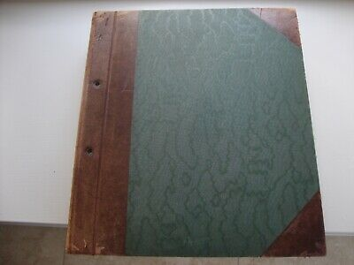 Vintage Leather Bound Stamp Album